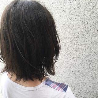 ストリート 黒髪 ミディアム ボブ ヘアスタイルや髪型の写真・画像