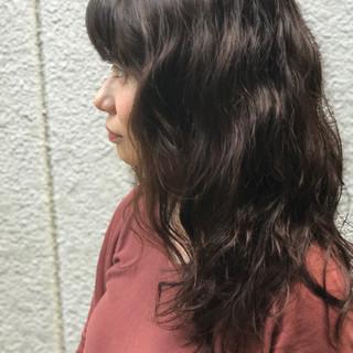 ナチュラル ロング 前髪あり セミロング ヘアスタイルや髪型の写真・画像