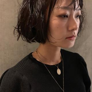 モード ショートボブ ボブ ベリーショート ヘアスタイルや髪型の写真・画像