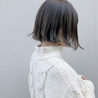 外国人風カラー 外ハネ ナチュラル ボブ ヘアスタイルや髪型の写真・画像 ヘアスタイルや髪型の写真・画像