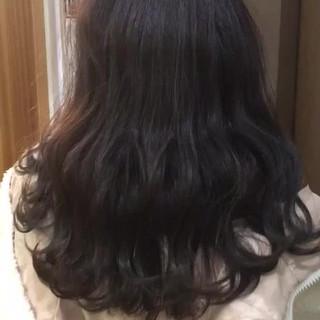 ヘアカラー アンニュイほつれヘア グレージュ セミロング ヘアスタイルや髪型の写真・画像
