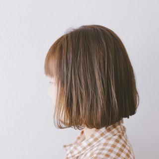 ナチュラル 外国人風カラー 透明感 ボブ ヘアスタイルや髪型の写真・画像