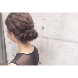 結婚式 フェミニン ヘアアレンジ ラフ ヘアスタイルや髪型の写真・画像