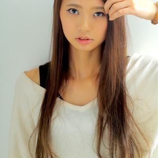 ロング ナチュラル 外国人風 大人かわいい ヘアスタイルや髪型の写真・画像