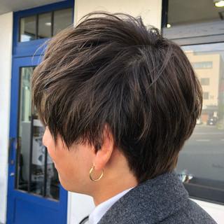 デート ストリート メンズマッシュ ショート ヘアスタイルや髪型の写真・画像