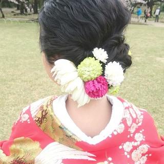 結婚式 ヘアアレンジ ロング ブライダル ヘアスタイルや髪型の写真・画像