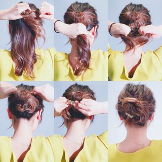 エレガント くるりんぱ ヘアアレンジ 簡単ヘアアレンジ ヘアスタイルや髪型の写真・画像 ヘアスタイルや髪型の写真・画像