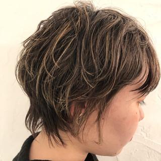 ハイライト ショート 外国人風カラー コントラストハイライト ヘアスタイルや髪型の写真・画像 ヘアスタイルや髪型の写真・画像
