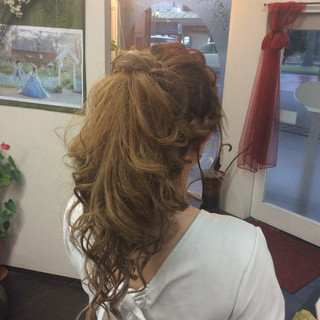 ロング 簡単ヘアアレンジ デート ヘアアレンジ ヘアスタイルや髪型の写真・画像