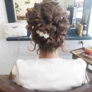 成人式 ヘアアレンジ ウェーブ 結婚式 ヘアスタイルや髪型の写真・画像
