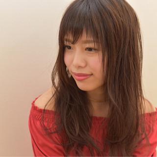 セミロング 色気 ナチュラル 斜め前髪 ヘアスタイルや髪型の写真・画像