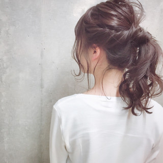 ナチュラル セミロング 冬 ヘアアレンジ ヘアスタイルや髪型の写真・画像 ヘアスタイルや髪型の写真・画像