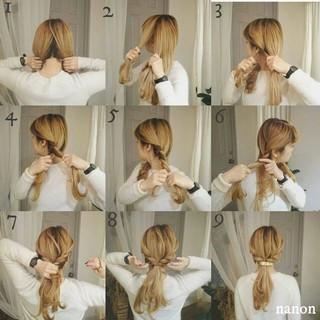 ヘアアレンジ セルフヘアアレンジ ポニーテール ロング ヘアスタイルや髪型の写真・画像 ヘアスタイルや髪型の写真・画像
