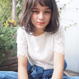 透明感 ミディアム アッシュ 外国人風 ヘアスタイルや髪型の写真・画像