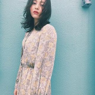 秋 おフェロ ウェーブ パーマ ヘアスタイルや髪型の写真・画像