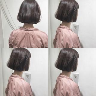 ナチュラル 冬 ショートボブ 透明感 ヘアスタイルや髪型の写真・画像
