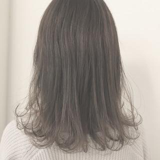 外国人風カラー ナチュラル ミルクティーベージュ 冬 ヘアスタイルや髪型の写真・画像