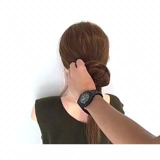 ロング 色気 簡単ヘアアレンジ 夏 ヘアスタイルや髪型の写真・画像