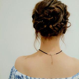 ヘアアレンジ ボブ セクシー ガーリー ヘアスタイルや髪型の写真・画像