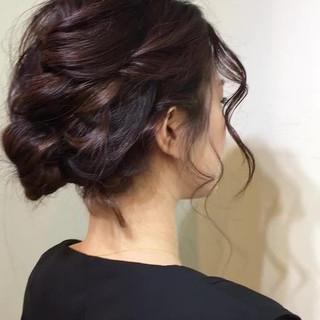 外国人風 簡単ヘアアレンジ ヘアアレンジ ミディアム ヘアスタイルや髪型の写真・画像