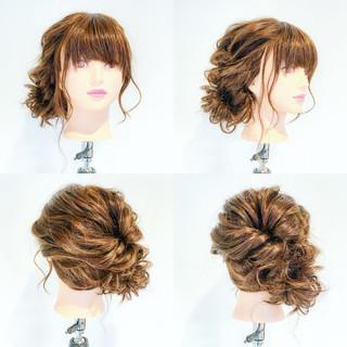 大人女子 結婚式 ヘアアレンジ セミロング ヘアスタイルや髪型の写真・画像