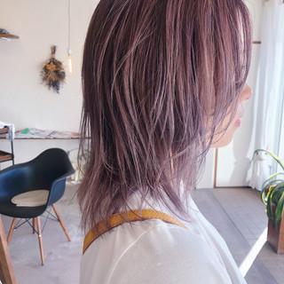 ハイトーンカラー マッシュウルフ ボブ ウルフカット ヘアスタイルや髪型の写真・画像