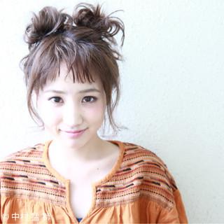 ヘアアレンジ 簡単ヘアアレンジ 色気 涼しげ ヘアスタイルや髪型の写真・画像