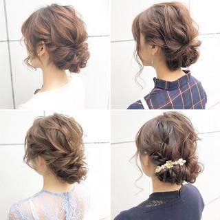 簡単ヘアアレンジ ロング 結婚式 デート ヘアスタイルや髪型の写真・画像