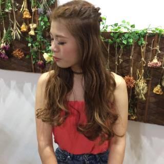 愛され 夏 モテ髪 編み込み ヘアスタイルや髪型の写真・画像 ヘアスタイルや髪型の写真・画像