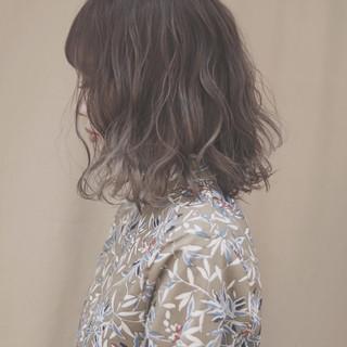 イルミナカラー オルチャン デート 切りっぱなし ヘアスタイルや髪型の写真・画像