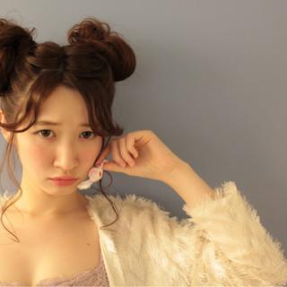 外国人風 ミディアム ショート パーマ ヘアスタイルや髪型の写真・画像