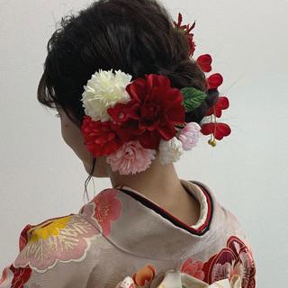 成人式 成人式カラー 結婚式ヘアアレンジ 成人式ヘア ヘアスタイルや髪型の写真・画像