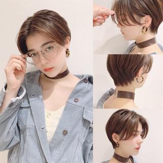 ショートボブ ショートヘア モード ハンサムショート ヘアスタイルや髪型の写真・画像