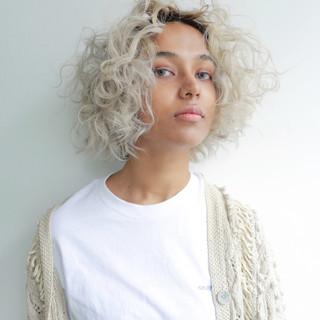 ブリーチ 秋 ボブ 透明感 ヘアスタイルや髪型の写真・画像 ヘアスタイルや髪型の写真・画像