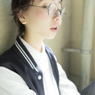 外国人風 パーマ ナチュラル ショート ヘアスタイルや髪型の写真・画像