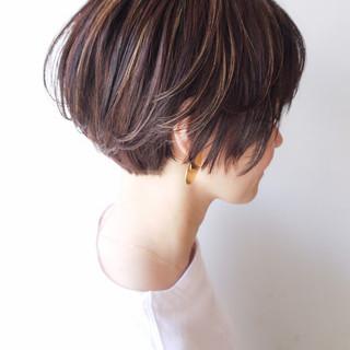 ショート 大人かわいい 丸みショート コンサバ ヘアスタイルや髪型の写真・画像