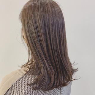オリーブグレージュ 大人かわいい 大人可愛い ナチュラル ヘアスタイルや髪型の写真・画像
