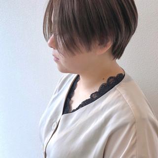 ハンサムショート 秋冬スタイル ショート ナチュラル ヘアスタイルや髪型の写真・画像