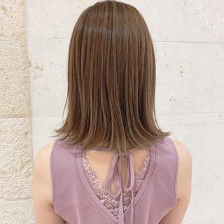 ミディアム 大人かわいい デート ナチュラル ヘアスタイルや髪型の写真・画像