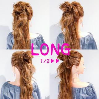 ヘアアレンジ ロング アウトドア ショート ヘアスタイルや髪型の写真・画像