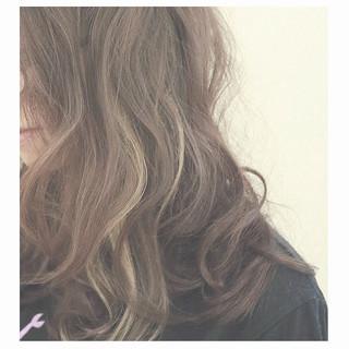インナーカラー ボブ ブラウン ストリート ヘアスタイルや髪型の写真・画像