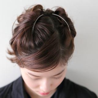 ヘアアレンジ 簡単ヘアアレンジ ボブ 結婚式 ヘアスタイルや髪型の写真・画像