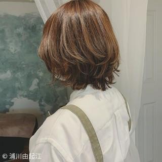 大人かわいい ハイライト モテ髪 ショートボブ ヘアスタイルや髪型の写真・画像