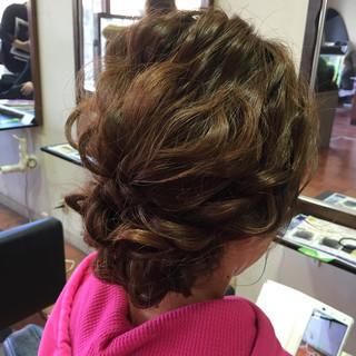 ラフ 波ウェーブ ミディアム ゆるふわ ヘアスタイルや髪型の写真・画像