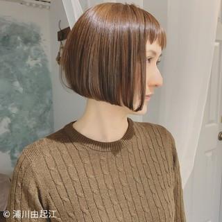 ハイライト デート モテ髪 ボブ ヘアスタイルや髪型の写真・画像