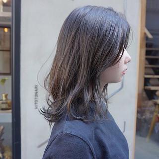 透明感カラー ナチュラル ヘアアレンジ ミディアム ヘアスタイルや髪型の写真・画像