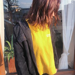 ハイトーンカラー ヘアアレンジ ナチュラル 切りっぱなしボブ ヘアスタイルや髪型の写真・画像