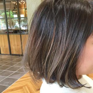 ボブ グラデーションカラー インナーカラー ブルージュ ヘアスタイルや髪型の写真・画像