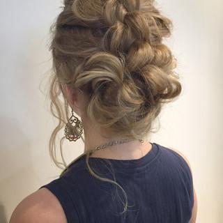 簡単ヘアアレンジ くせ毛風 ロング ヘアアレンジ ヘアスタイルや髪型の写真・画像