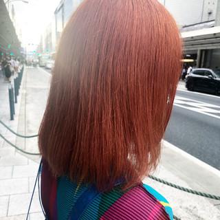 外国人風カラー ブリーチカラー ハイトーンカラー ミディアム ヘアスタイルや髪型の写真・画像